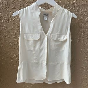 💚Kim Rogers Cream Color Work blouse - Size small